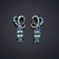 Blue Earrings Luz Camino