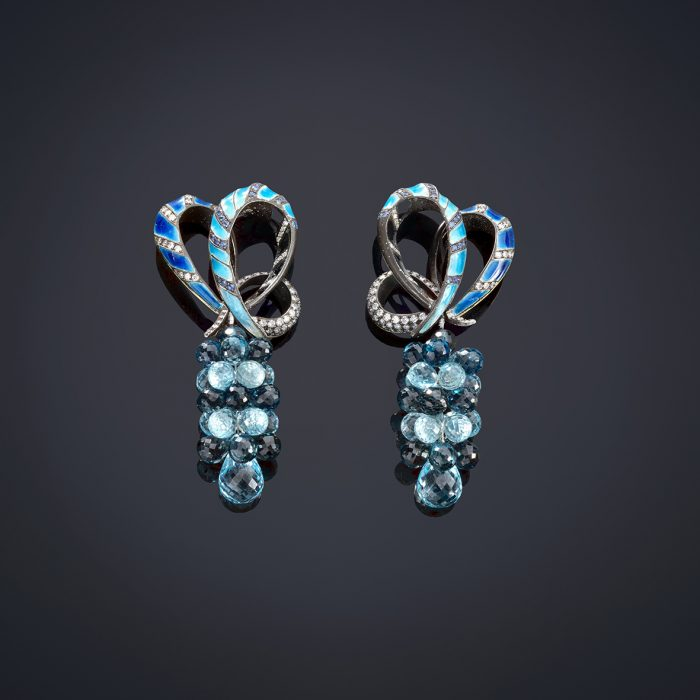 Blue Earrings Luz Camino