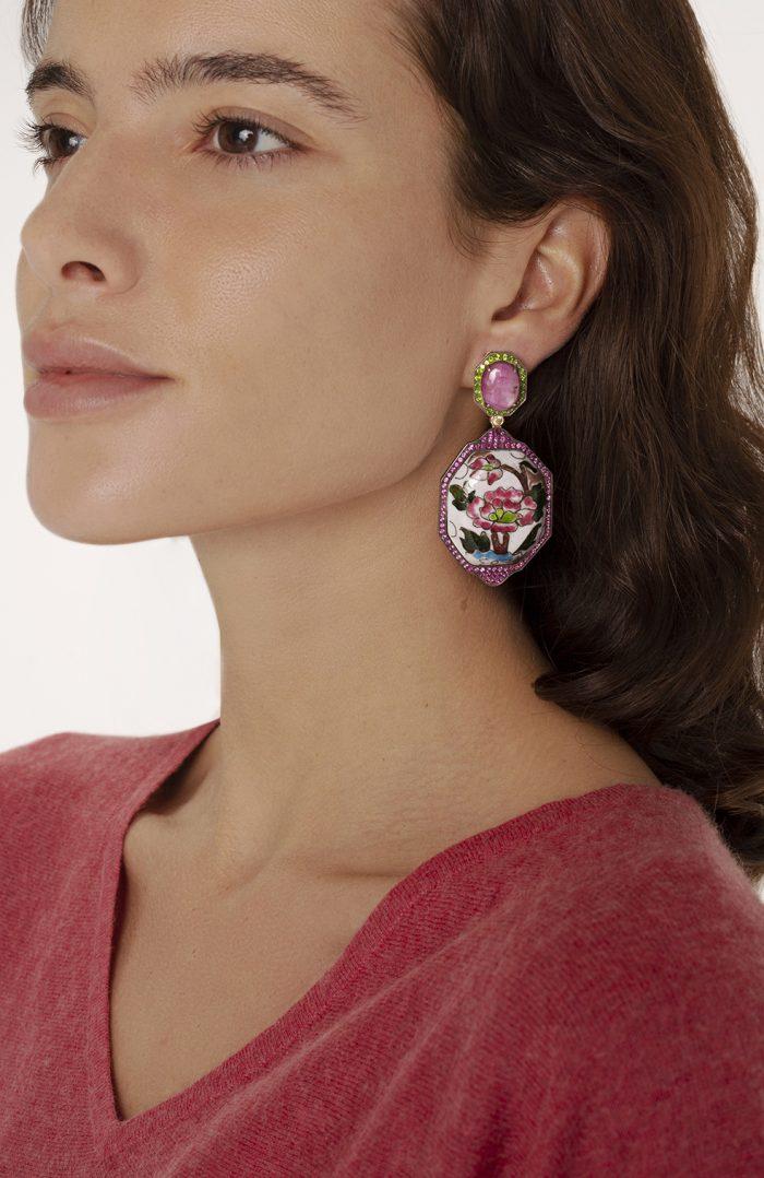 Enamel Earrings - Luz Camino