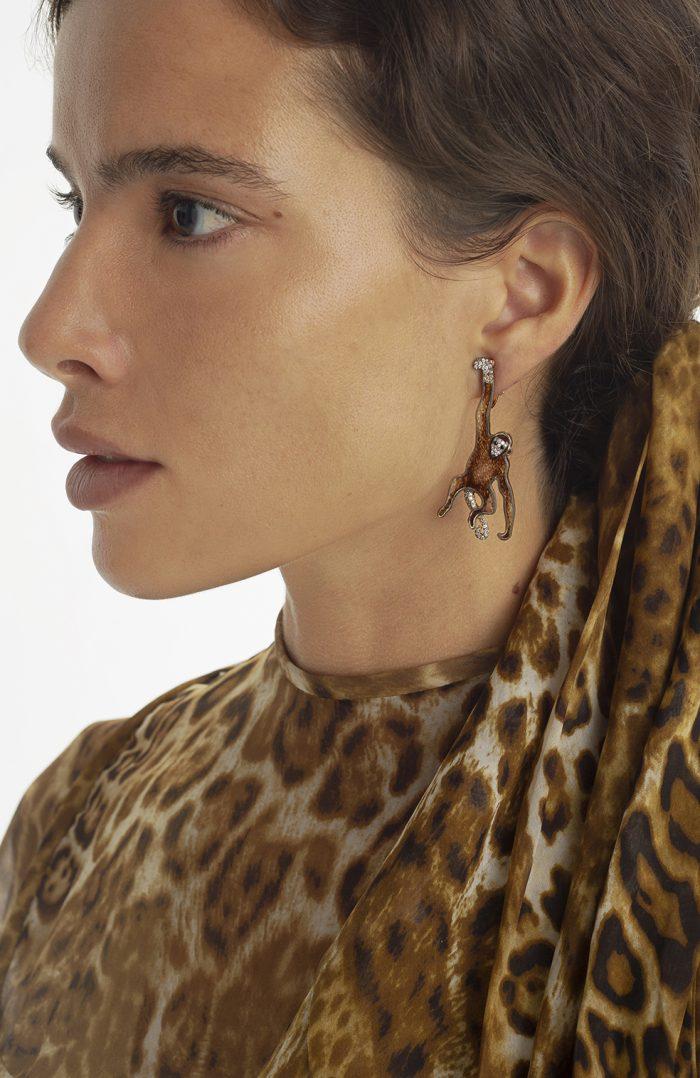 Monkey Earrings - Luz Camino